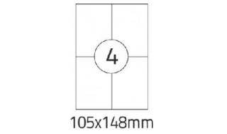 Etykiety samoprzylepne Desk 105x148mm,100 ark./4etykiety