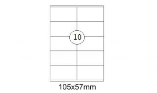 Etykiety samoprzylepne Desk 105x57mm, 100 ark./10etykiet
