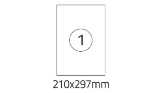 Etykiety samoprzylepne Desk 210x297mm, 100ark./1etykieta