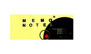 Karteczki samoprzylepne MEMO 38x51 3szt opak. żółte