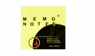 Karteczki samoprzylepne MEMO 76x76 żółte