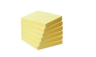 Karteczki samoprzylepne OP 76x76mm pastel, jasnożółte