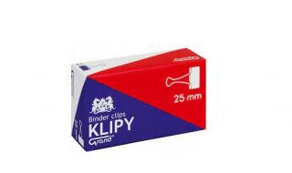 Klipsy biurowe GRAND 25mm/12 sztuk