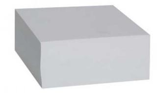 Kostka nieklejona 8,5x8,5 biała