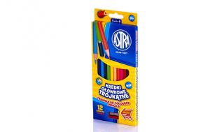 Kredki ołówkowe ASTRA 12 kolorów trójkątne