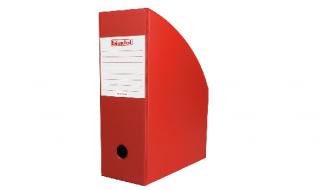 Pojemnik na dokumenty Biurfol A4/100mm czerwony