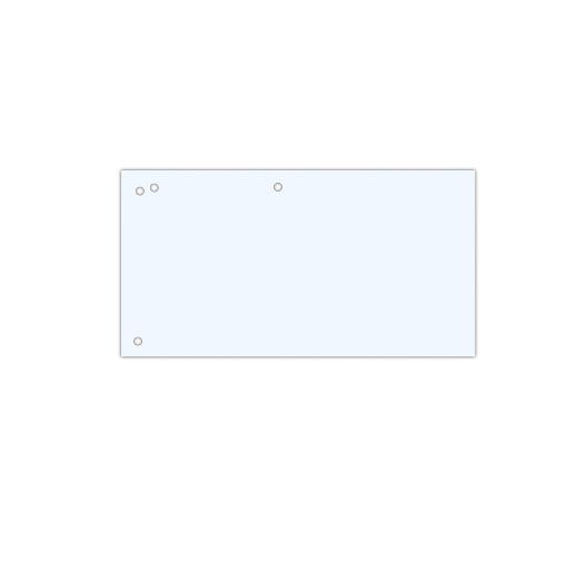 Przekładki kartonowe DONAU 1/3 A4 białe