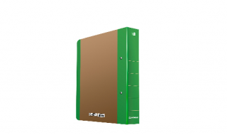 Segregator DONAU Life A4/5cm neon zielony