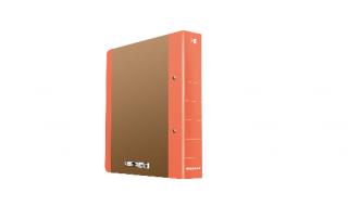 Segregator DONAU Life A4/5cm neon pomarańczowy