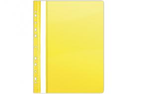Skoroszyt OP A4 miękki wpinany żółty