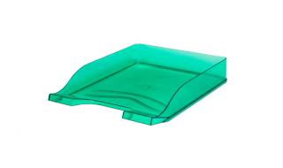 Szuflada transparentna zielona Bantex