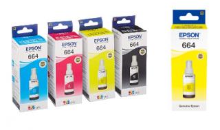 Tusz Epson T6644 yellow [70ml] oryginał