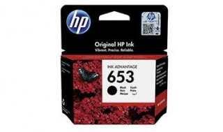 Tusz HP No 653 black [360str] oryginał