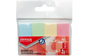 Zakładki indeksujące OP 20x50mm mix kolor pastel