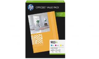 Zestaw tuszy HP 903XL [CMY] +papier oryginał