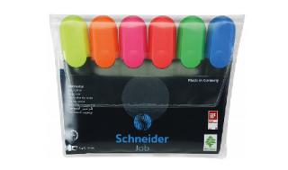 Zestaw zakreślaczy SCHNEIDER Job 6 szt. mix kolorów